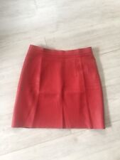 AMERICAN APPAREL red leather skirt L 12 14 40 42 mini