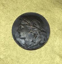 SOUVENIR de L'EXPOSITION UNIVERSELLE 1900 MEDAILLE FRANCE DANIEL DUPUIS - BRONZE