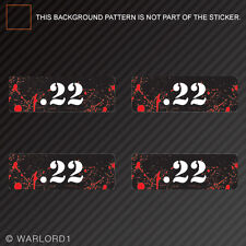 .22 Ammo Can Sticker Set Zombie Edition Die Cut Decal bullet 22