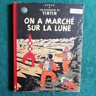 HERGE TINTIN ON A MARCHE SUR LA LUNE 1954 DOS ROUGE EO