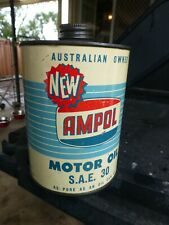 RARE AMPOL ONE IMPERIAL QUART OIL TIN WITH THE ADDED NEW LOGO PRINT