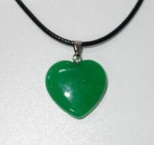 Echtstein Anhänger für Halskette - NEU - Achat Herz Heart Grün Geschenk 032