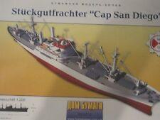 Cap San Diego Stückgutfrachter 1:200 ca. 80cm lang Kartonbausatz NEU Bastelbogen