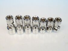 "3/8"" Drive 7 Piece Metric Universal Joint Type Socket Set Vintage Indestro Super"