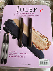 JULEP EYESHADOW 101 DUO CHAMPAGNE SHIMMER/MIDNIGHT NEW