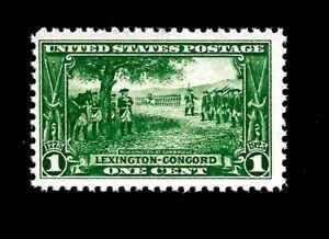 US 1925 Sc #617 1 c Lexington Concord Mint NH - Vivid Color - Centered