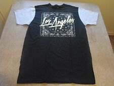 Medium 2 tone black & gray  Los Angeles bandana,  Urban,  Low Rider t-shirt.