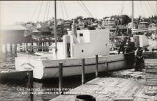 Stonington Me Arthur Woodward Lobster Boat Real Photo Postcard