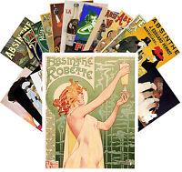 Postcards Pack [24 cards] Absinthe Campari Vintage Alcohol Art Deco Ads CC1081