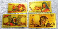 "★ COLLECTION COMPLETE 4 BILLETS POLYMER  "" OR ""  COULEURS ANNEES 1975  ★ REF4"