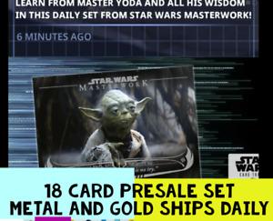 topps star wars card trader WISDOM OF YODA MASTERWORK PRESALE  18 CARDS