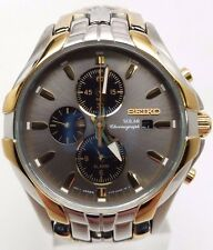 Seiko SSC138 Solar Alarm Two Tone Chronograph Stainless Steel Men's Watch