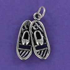Snow Shoes Charm Sterling Silver for Bracelet Pair Winter Hiking Walking NEW