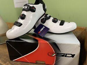 NEW 2020 SIDI ERGO 5 MEGA Road Cycling Shoes SIZE 47 BLACK/WHITE US SIZE 12-13