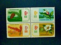 USA 1969 #1376-1379 $.06 11th International Botanical Congress Issue Block of 4