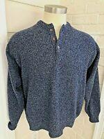 Pendleton 100% Shetland Virgin Wool Pullover Henley Sweater Washable Mens XL