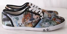 The Bradford Exchange Wildlife Rescue Panda Tiger Fashion Sneakers Women's US 8
