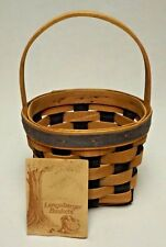 Longaberger 1987 Resolution Basket with Certificate An Amazing Early Basket!