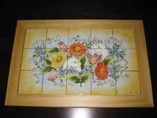 pannello maiolica completo di cornice dip. a mano ceramica Deruta .