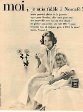 PUBLICITE ADVERTISING  1958   NESCAFE   café soluble