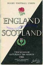 More details for england v scotland 18 march 1961 rugby programme five nations at twickenham