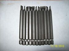 """Slotted #8-10 bits ,3 1/2"""" long, MADE IN USA- 10 qty"""