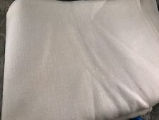 2 YARDS OF VINTAGE WHITE LINEN FABRIC