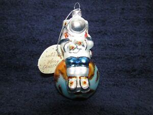 NEW! Sass & Belle ASTRONAUT **Large** Christmas Ornament ~ Blown Glass