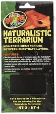 "ZOO MED NATURALISTIC TERRARIUM MESH 18X18"" REPTILE TURTLE. FREE SHIP IN THE USA"