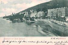 Abbazia (Opatija),Croatia,Sudstrand mit Hotel Bellevue,Used,No Stamp,1904