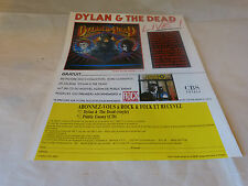 BOB DYLAN & GRATEFUL DEAD - Publicité de magazine / Advert !!! DYLAN & THE DEAD