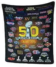 2016 Super Bowl L (50) NFL Oversized Silk Touch Blanket