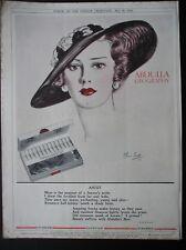 ORIGINAL 1934  MAGAZINE ADVERT  FOR  ABDULLA CIGARETTES