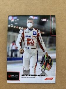 Topps Now Formula 1 2021 F1 #2 Mick Schumacher Debut race in F1 Rookie Card - RC