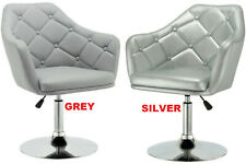 ALCUDIA GREY , SILVER Beauty Salon Chair Barber Hairdressing PU Leather CHAIR