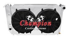 "4 Row Perf Champion Radiator,2 14"" Fans,Shroud-1974-1979 Ford Ranchero V8 Eng"