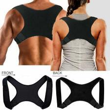 Women Men Posture Corrector Body Brace Bad Back Lumbar Shoulder Support Belt UK