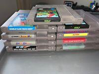 Lot Of 9 Nintendo NES Games Golf Mario Bros Rad Racer Wrestling