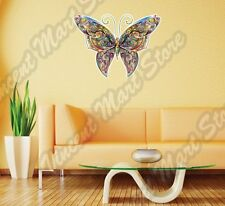 "Tracery Butterfly Ornament Colorful Wall Sticker Room Interior Decor 25""X22"""