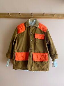 Vintage Saftbak carhartt hunting jacket field coat patchwork color block canvas