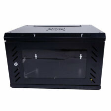6U Equipped Iron Network Cabinet with Cooling Fan Cabinet Rack Door Locking L3V4