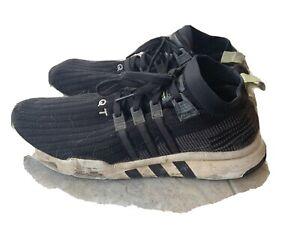 Adidas EQT Support ADV / 91-18 Men's Training Shoes Black Green Knit Equipment