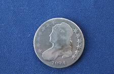 1824 Capped Bust Silver Half Dollar Great Type Coin M1055
