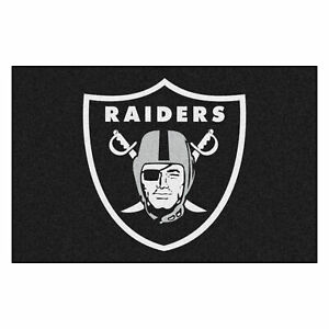 "Fanmats NFL Las Vegas Raiders Rookie Mat Area Rug Bath Mat 20""x 30"""