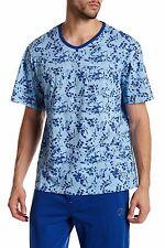 ROBERT GRAHAM Lounge Tee Short Sleeve Printed Shirt - Sz XL, 2XL - Blue