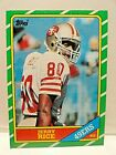 1986 Topps Jerry Rice WR San Francisco 49ers NFL Rookie Card # 161 Near / Mint