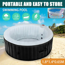 Adult Swimming Pool Portable Inflatable Rubber Bath Tub SPA 4 Person In/Outdoor
