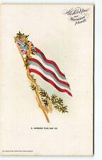 1900s Island Curio Store Aloha Nui #3 Hawaiian Flag & Lei Postcard Hawaii-H5