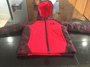 BOYS Under Armour COLDGEAR STORM  jacket SIZE 4 BLACK/RED  NWT