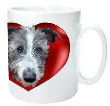 Lurcher Gift Mug Scruffy Lurcher in Heart Cute Dog Mug Birthday Gift